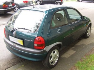 Opel Corsa B Heckansicht