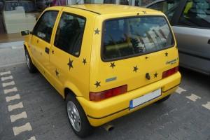 Fiat Cinquecento Sporting Heck schräg