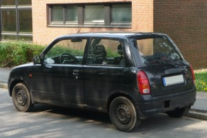 Daihatsu Cuore Typ L7 Heck